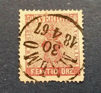 Sweden Stamp, Scott 12 Used and Hinged