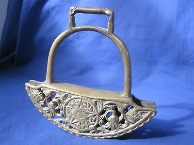 Antique brass bell shaped item with handle religious. Buddhist, Jewish, Arabic?