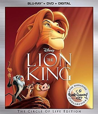 The Lion King (Blu-ray/DVD ONLY, 2017, 2-Disc Set,)NEW