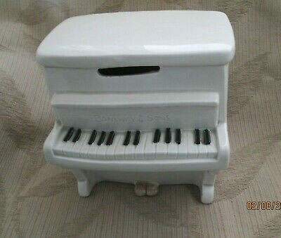 Vintage Fitz And Floyd 1970s Upright Piano Bank With Original Stopper-Rare!