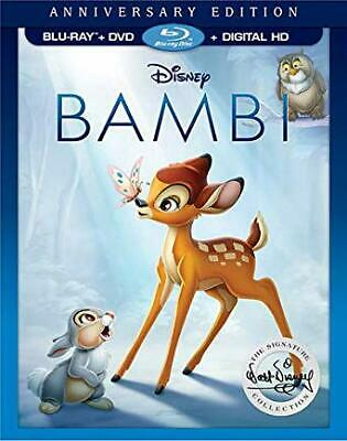 Bambi (Blu-ray/DVD,ONLY 2017, 2-Disc Set,  Anniversary Edition)NEW
