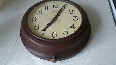 Vintage - Smiths - Bakelite School / Station Wall Clock - 10 Inch Face