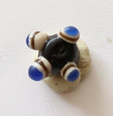 ANCIENT VIKING DECORATED GLASS BEAD 9th-12th century AD