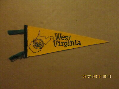 State Of West Virginia Vintage Circa 1970's 5x14 Size Mini State Pennant