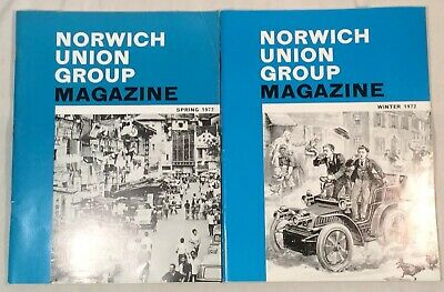 2x Collectable Rare Vintage Norwich Union Group Magazines 1972