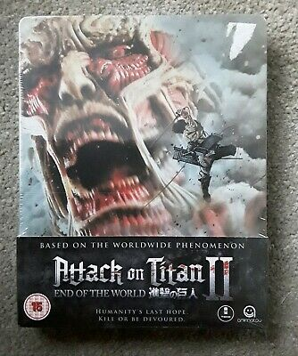 NEW Attack On Titan II 2 End Of The World Movie Steelbook Blu Ray Film Sealed