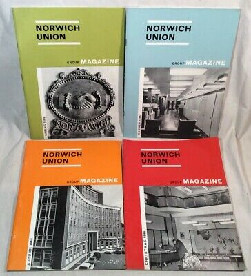 4x Collectable Rare Vintage Norwich Union Group Magazines 1966