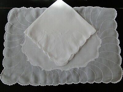 Constance Leiter Organdyand Linen  Placemats And Napkins