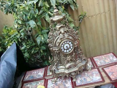 FHS  Floating Balance  Ting Tang Gilt Brass  Mantle  Clock