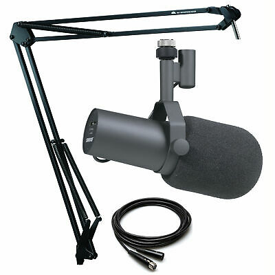 Shure SM7B Broadcast Microphone with Heil Sound HB-1 Microphone Boom Mount