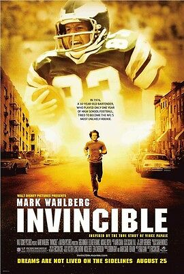 Invincible movie poster - Mark Wahlberg poster - 11 x 17 inches - NFL