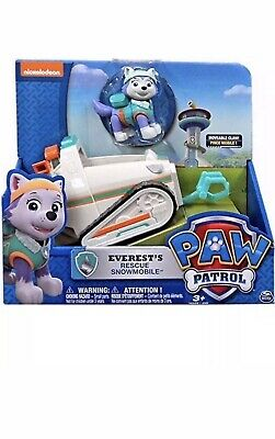 Paw Patrol Everest And Snowmobile Rescue Vehicle Brand New Free P&P