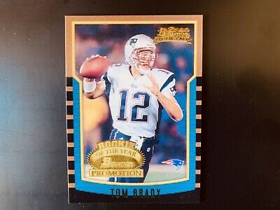 25 Card Lot Bowman Tom Brady Rookie Of The Year Promotion Rp Patriots Goat
