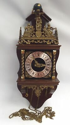 Vintage FRANZ HERMLE Wall Clock West Germany SPARES/REPAIRS - C53
