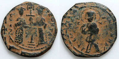 Anonymous Byzantine Coin Ae 29 Follis Constantine X Constantinople 1059-1067 Ad