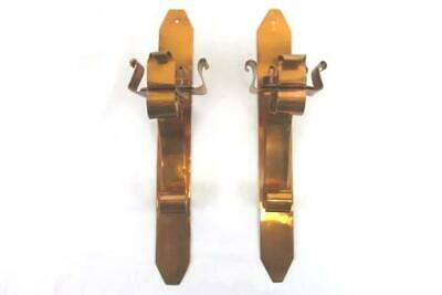 """Vintage Pair of Copper Wall Sconces Lamp Candle Holders Scroll Design 12"""""""