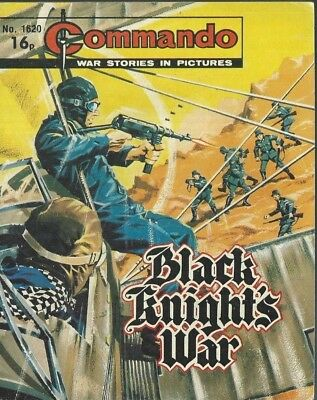 Black Knight's War,commando War Stories In Pictures,no.1620,war Comic,1982