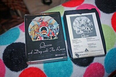 Queen - A Day At The Races -  Uk Rock 8-Track Tape 1976 In Card Sleeve