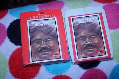 James Brown - Reality - Uk  8 Track Tape 1974 - In Card Sleeve - Rare