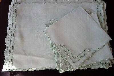 """Vintage Linens - Marghab  """"open End""""  Placemats And Napkins"""