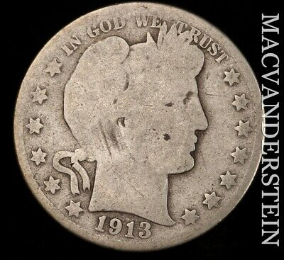 1913 Barber Half Dollar - Scarce!!  Key Date!!  #f1771