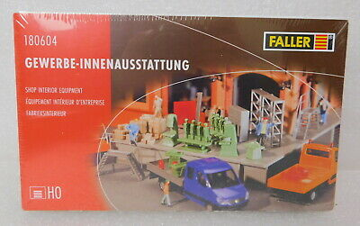 New HO Scale Faller 1:87 180604 Shop Interior Equipment Kit Warehouse Freight