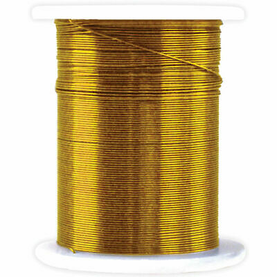 40 Yards 28 Gauge 120 Feet Gold Metal Beading Wire Crafts Jewelry Floral Darice
