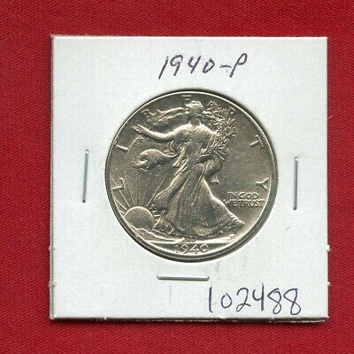 1940 Walking Liberty Silver Half Dollar #102488 $ High Grade Us Mint Rare Estate