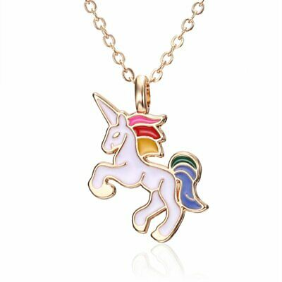 NEW Colorful Horse Pendant Charm Long Sweater Chain Necklace Jewelry Gift Women