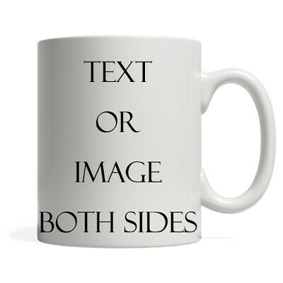 PERSONALISED PHOTO MUG NAME TEXT Gift Novelty Birthday Fathers Mothers Valentine