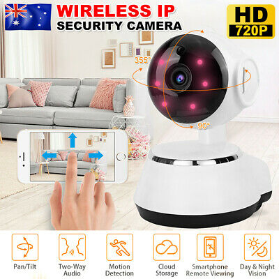 Wifi Security Camera Wireless CCTV IP HD 720P Night Vision Baby Pet Home Monitor