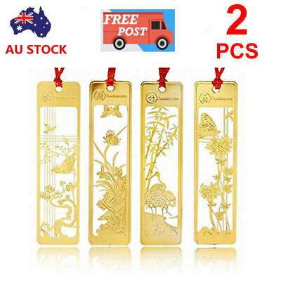 2PCS Exquisite Chinese Style Metal Flowers Bookmarks For Gift Present Souvenirs