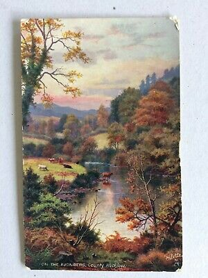 Vintage Collectable Postcard - On the Avonberg, County Wicklow - Oilette