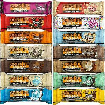 Grenade Carb Killa Bars 3/6/12/24x60g High Protein Low Carbs Bar All 14 Flavours