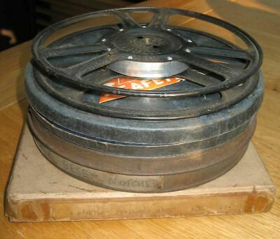 9.5mm Films Pathe Projector Reels Spools Home Movies, Chaplin, Notched Cassettes