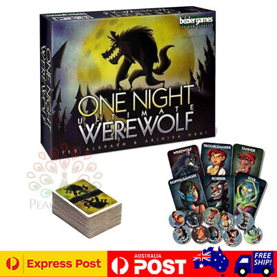 One Night Ultimate Werewolf Board Game Card Games Brand New & Sealed Gifts Toys