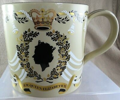 Wedgwood Queen Elizabeth II Large Wedding Mug 1947-1972 by Richard Guyatt
