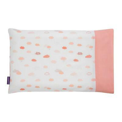 ClevaMama Replacement Baby Pillow Case (Coral) - Fits ClevaFoam Baby Pillow