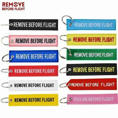 Remove Before Flight Key Chain Embroidery Keyring for Aviation Gifts Luggage Tag
