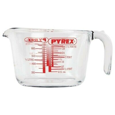 New 2 X Pyrex Measuring 1L And 500Ml Jugs With Ml And Oz