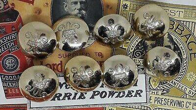 Vintage set of womens royal army corps uniform dress buttons 15mm.