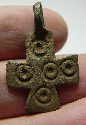 Zurqieh - As11696-  Ancient Byzantine Bronze Cross. 600 A.d - Jordan