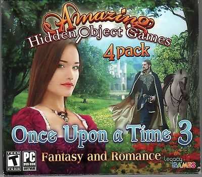 ONCE UPON A TIME Vol 3 Amazing Hidden Object Games 4 PACK + Bonus! PC Game NEW