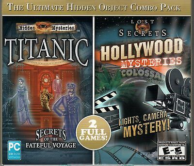 Hidden Mysteries TITANIC + HOLLYWOOD MYSTERIES Hidden Object PC Game CD-ROM NEW