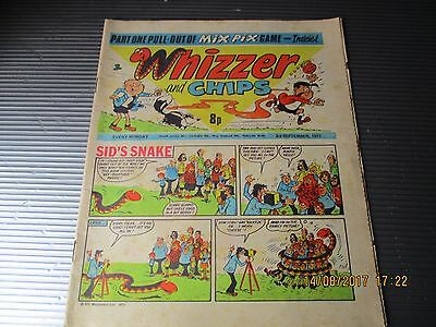 September 1977, WHIZZER & CHIPS, David Higginson, Brian Sisley, Harvey Salmon.