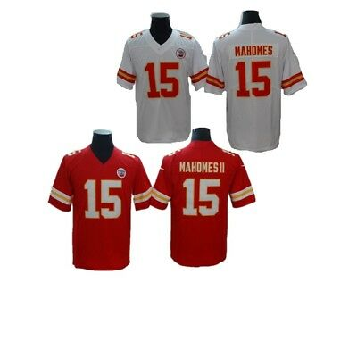 9de6a2c05a5 New Patrick Mahomes 15# Kansas City Chiefs Men Game Jersey White/ Red Jersey