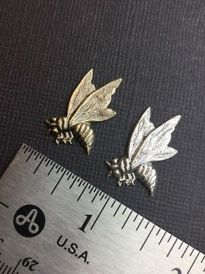 35784 Victorian Peacock Brass Jewelry Finding Matte SILVER Ox