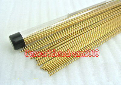 10x Brass Rods Wires Sticks 2mm x 250mm For Repair Welding Brazing Soldering