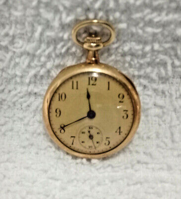 a32fed6edb79d ANTIQUE HAAS NEVEUX & Co. 18k Gold Ladies Pocket Watch - $285.00 ...