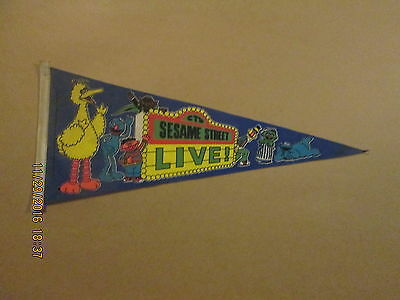 Sesame Street Live! Vintage Circa 1980's Style#2 Muppet Characters,Inc. Pennant